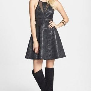 ASTR black fit and flare dress size S